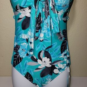 Seafolly Swim - SEAFOLLY Convertible Cross Back Swimsuit Floral 8